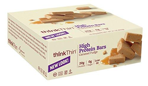 thinkThin High Protein, Caramel Fudge, 60 Gram Bar, 10 Count