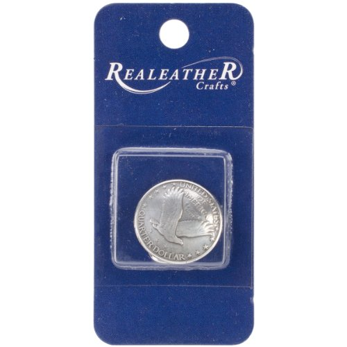 """Concho 3/4"""" Antique Silver 1/Pkg-Eagle Quarter"""
