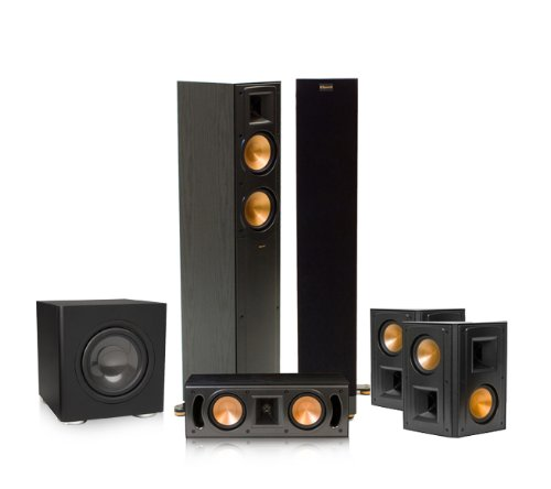 Klipsch Rf-42 Ii 5.1 Reference Series Home Theater Speaker Bundle (Black)