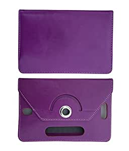 Fastway 8 Inch Rotate Tablet Book Cover For Lenovo A 8 -50 Wifi 3G 16 GB-Purple
