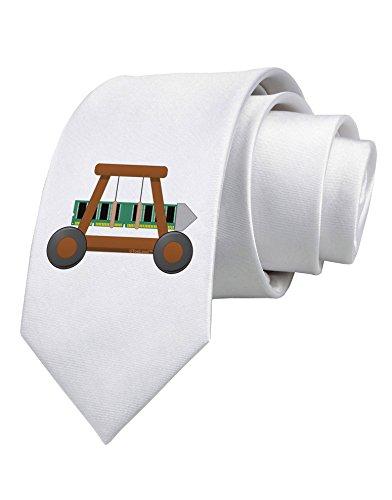 TooLoud Battering RAM Printed White Neck Tie
