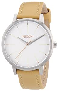 Nixon Kensington Leather Womens Watch One Size Natural Silver