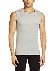 Lakomfort Men's Cotton Vest (Allen _Large_Melange)