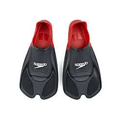 Speedo Aquapulse Training Fins, Size 8 (Red/Black)