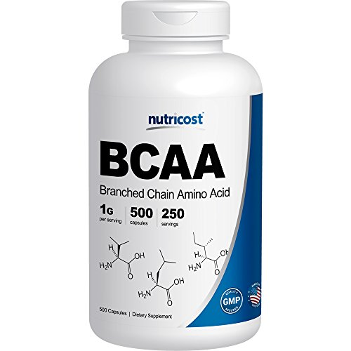 Nutricost BCAA Capsules 2:1:1 500mg, 500 Caps (On 1000 Cap Bcaa compare prices)