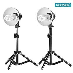 Neewer Table Top Photography Studio Lighting Kit, Kit includes(2)18