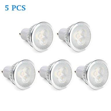 5Pcs Gu10 6W 310Lm 5000K Natural White Light Led Spot Bulb (220V)