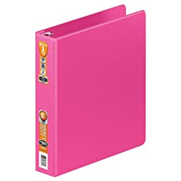 Wilson Jones Heavy Duty Round Ring Binder with Extra Durable Hinge, 1.5-Inch, Bright Pink (W364-34-212)