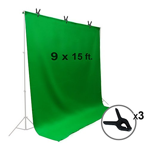 LimoStudio-9-x-15-ft-Green-Chromakey-Muslin-Backdrop-Background-Screen-for-Photo-Video-Studio-3-x-Backdrop-Clamp-AGG1777