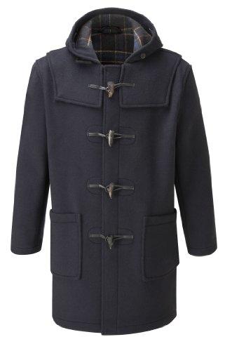 Mens Long Duffle Coat -- Navy (40)