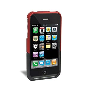iFrogz Luxe Case for iPhone 3G, 3G S (Red/Black)