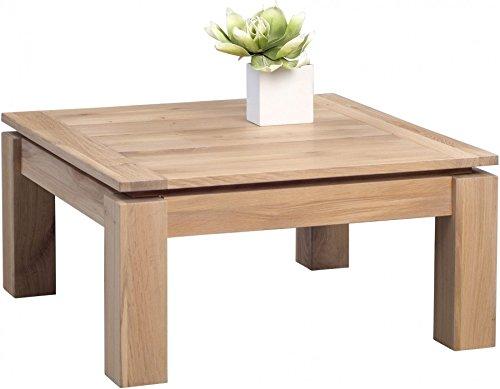 HomeTrends4You 268661 Couchtisch, 90 x 40 x 90 cm, Eiche Bianco massiv geölt online kaufen