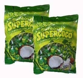 Amazon.com : Supercoco Bombon Chupetas Caramelo Con Coco