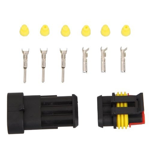 Sodial(R) 10 Kit 3 Pin Way Waterproof Electrical Wire Connector Plug
