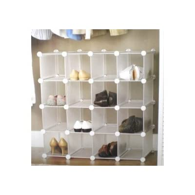 Interlocking shoe organizer/shoe rack for 16 pairs
