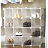 INTERLOCKING SHOE ORGANIZER/SHOE RACK for 16 PAIRSby CWC