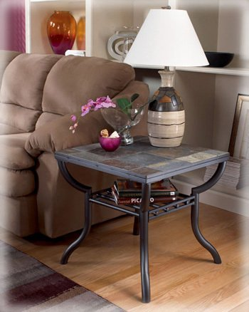 Antigo Square End Table by Ashley - Metal (T233-2)