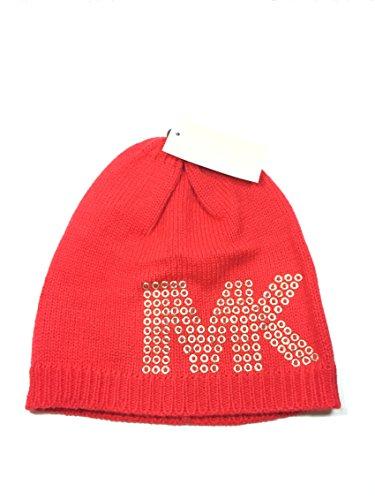 Michael Michael Kors Gold Pin Dot Logo Studded Hat COR(orange)