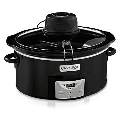 Crock-Pot 6Qt Black Oval Programmable Digital Slow Cooker w/Auto Stir System SCCPVC600AS-B (Crock Pot Countdown Slow Cooker compare prices)