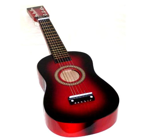 Mighty Instruments Kids 23-Inch Toy Guitar for Children Ages 3 and up - RED