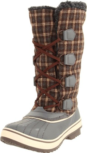 Skechers Women's Highlanders-Klondike Boot,Charcoal/Brown,5 M US