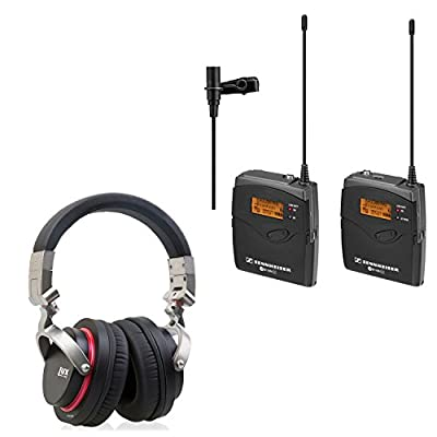 Sennheiser EW 112-P G3-G Wireless Lavalier System with LyxPro HAS-20 Professional Studio Headphones