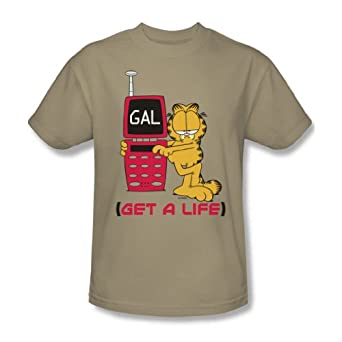 Garfield - - Get A Life adultes T-shirt Dans Le Sable, XXX-Large, Sand