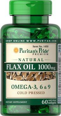フラックスシードオイル 1000 mg.ソフトジェル60粒
