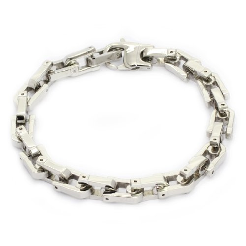 STAINLESS STEEL Stylish Bracelet / Bangle With Cable Links, 9'' (LIFETIME WARRANTY)