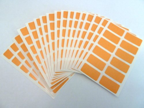 200-labels-25x12mm-rectangle-orange-colour-code-stickers-self-adhesive-sticky-coloured-labels