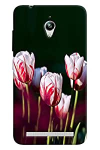 Blue Throat White Lily Pattern Hard Plastic Printed Back Cover/Case For Asus Zenfone Go