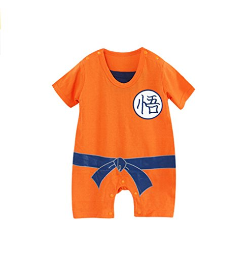 Baby Summer Short Sleeve DragonBall Romper Toddler Onesie Cosplay Sleepwear