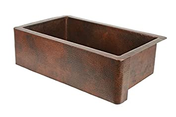 "36"" Single Well Copper Farmhouse Sink"