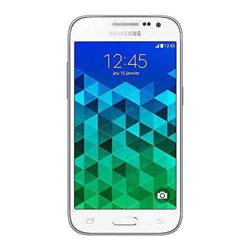 Samsung Galaxy Core Prime Smartphone débloqué 4G (Ecran : 4.5 pouces – 8 Go – Simple SIM – Android 4.4 KitKat) Blanc