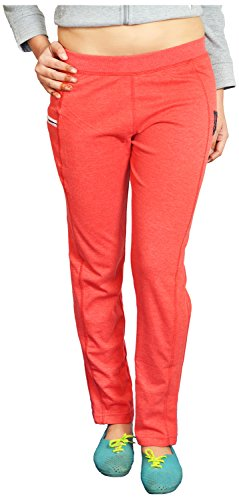 LONDON EYE Women's Relaxed Pants (LR-0385-13-506, Red, L)