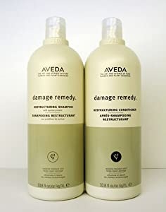 Aveda Damage Remedy Shampoo & Conditioner Liter Duo Set (33.8 oz each)