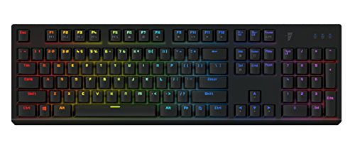 Tesoro Gram Spectrum Low Profile G11SFL Red Mechanical Switch Single Individual Per Key Full Color RGB LED Backlit Illuminated Mechanical Black Gaming Keyboard TS-G11SFL B (RD)