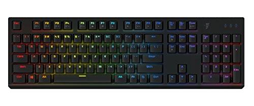 Tesoro Gram Spectrum Low Profile G11SFL Red Mechanical Switch Single Individual Per Key Full Color RGB LED Backlit Illuminated Mechanical Black Gaming Keyboard TS-G11SFL B (RD)