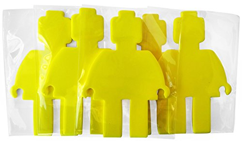 Coolest-Mini-Figure-Shape-Cutout-Self-Stick-Notepads-Bricks-or-Building-Blocks-Theme-12-Pack