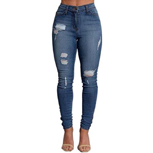 VICVIK-Woman-Knee-Skinny-Denim-Distressed-Ripped-Boyfriend-Jeans-M