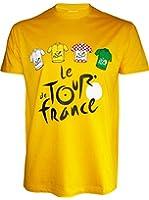 T-shirt Le Tour de France de cyclisme - Collection officielle - Taille adulte Homme