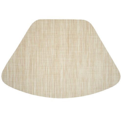 Cream/Tan Wipeable Wedge Shaped Placemat For Round Tables Sweet Pea Linens