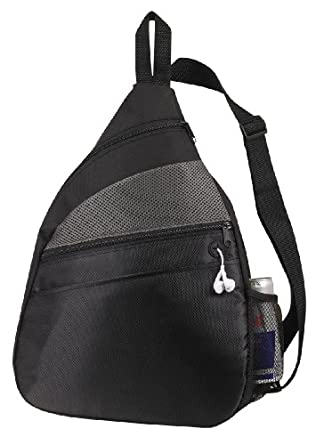 padded sling backpack sports bag black clothing. Black Bedroom Furniture Sets. Home Design Ideas