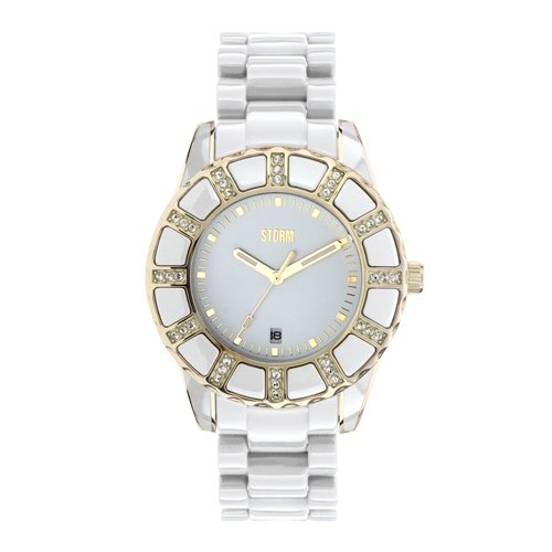 Storm Ladies Vestine Crystal Gold Watch 47028/GD/W