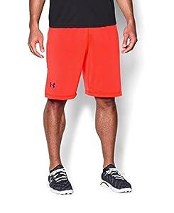 Under Armour Men's Raid Shorts, Medium, Bolt Orange/Academy
