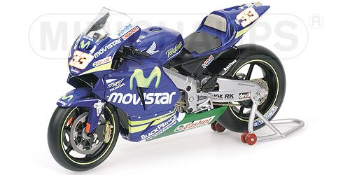 HONDA RC211V M.MELANDRI MOVISTAR HONDA Diecast Model Motorcycle in 1:12 Scale by Minichamps