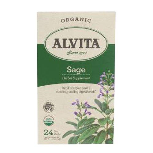 Alvita Tisane Tè Di Salvia - Organico - 24 Bustine Tè