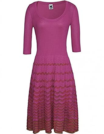 M Missoni Women's Knitted Dress UK 14 PNK