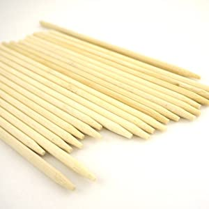 BambooMN Brand - 5mm thick Semi-Point Food Skewers - 6.5 (16.5cm) X 5mm 100pc by ThinkBamboo - Skewers