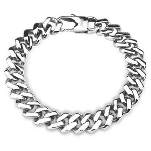 316L Stainless Steel Chain Bracelet Square Links